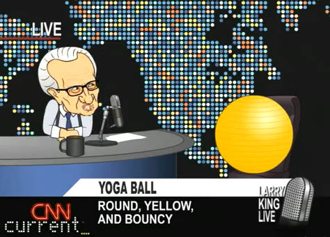 larry king interviews yoga ball